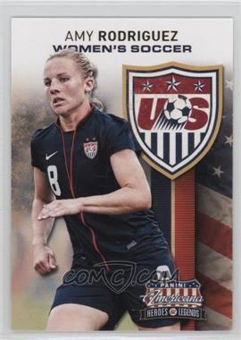 2012 Panini Americana Heroes & Legends - US Women's Soccer Team #5 - Amy Rodriguez