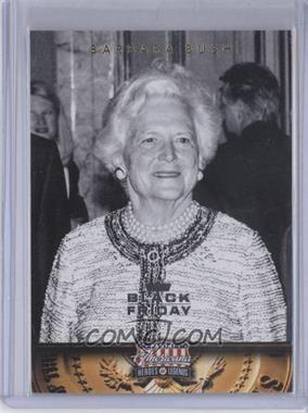 2012 Panini Americana Heroes & Legends Black Friday #56 - Barbara Bush /5