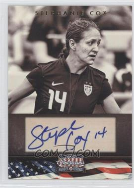 2012 Panini Americana Heroes & Legends Elite Signatures [Autographed] #117 - Stephanie Cox /179
