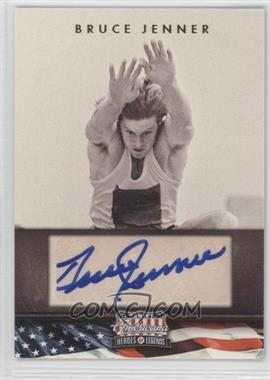 2012 Panini Americana Heroes & Legends Elite Signatures [Autographed] #66 - Bruce Jenner /398