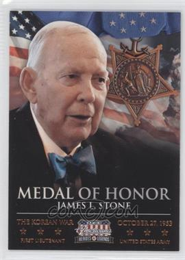 2012 Panini Americana Heroes & Legends Medal of Honor #7 - James L. Stone