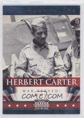 2012 Panini Americana Heroes & Legends Military Elite #5 - Herbert Carter