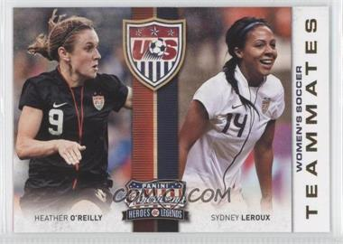 2012 Panini Americana Heroes & Legends US Women's Soccer Team Teammates #7 - Heather O'Reilly, Sydney Leroux