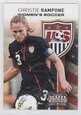 2012 Panini Americana Heroes & Legends US Women's Soccer Team #8 - Christie Rampone