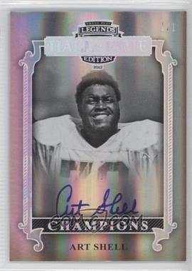 2012 Press Pass Legends Hall of Fame Edition Champions Melting Foil #CH-AS - Art Shell /1