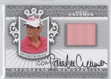 2012 Sportkings Series E - Autograph - Memorabilia - Silver #AM-PC2 - Paula Creamer /40