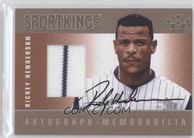 2012 Sportkings Series E - Autograph - Memorabilia - Silver #AM-RH2 - Rickey Henderson /25