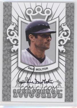 2012 Sportkings Series E - Autograph - Silver #A-PM2 - Paul Molitor /30
