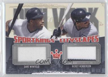 2012 Sportkings Series E - Cityscapes - Silver #CS-03 - Dave Winfield, Rickey Henderson /30