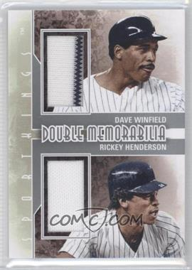 2012 Sportkings Series E - Double Memorabilia - Silver #DM-02 - Dave Winfield, Rickey Henderson
