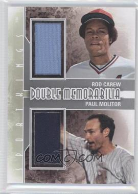 2012 Sportkings Series E - Double Memorabilia - Silver #DM-03 - Rod Carew, Paul Molitor