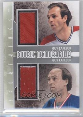 2012 Sportkings Series E - Double Memorabilia - Silver #DM-09 - Guy Lafleur