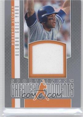 2012 Sportkings Series E - Greatest Moments - Silver #GM-01 - Roberto Alomar