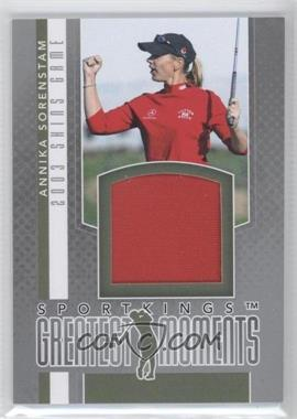 2012 Sportkings Series E - Greatest Moments - Silver #GM-04 - Annika Sorenstam