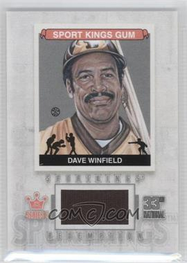 2012 Sportkings Series E - Redemption Single Memorabilia - Silver #SKR-27 - Dave Winfield /19
