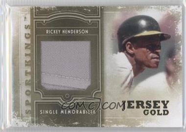 2012 Sportkings Series E - Single Memorabilia - Gold Jersey #SM-04 - Rickey Henderson /10