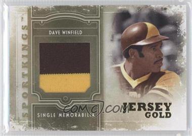 2012 Sportkings Series E - Single Memorabilia - Gold Jersey #SM-13 - Dave Winfield /10