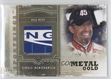 2012 Sportkings Series E - Single Memorabilia - Gold Jersey #SM-22 - Kyle Petty /10