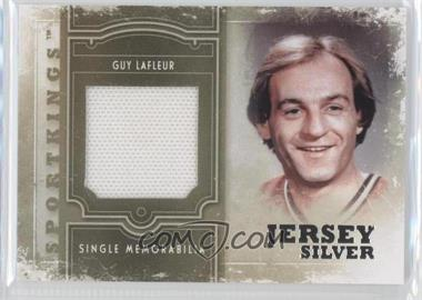 2012 Sportkings Series E - Single Memorabilia - Silver Jersey #SM-05 - Guy Lafleur