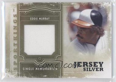 2012 Sportkings Series E - Single Memorabilia - Silver Jersey #SM-07 - Eddie Murray
