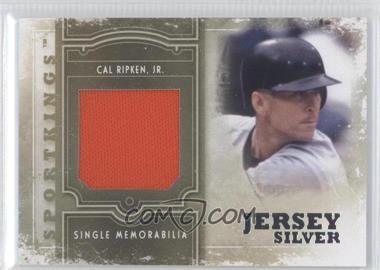 2012 Sportkings Series E - Single Memorabilia - Silver Jersey #SM-08 - Cal Ripken Jr.