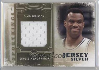 2012 Sportkings Series E - Single Memorabilia - Silver Jersey #SM-09 - David Robinson