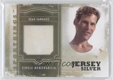2012 Sportkings Series E - Single Memorabilia - Silver Jersey #SM-16 - Dean Karnazes