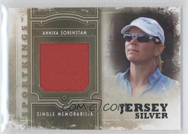 2012 Sportkings Series E - Single Memorabilia - Silver Jersey #SM-18 - Annika Sorenstam