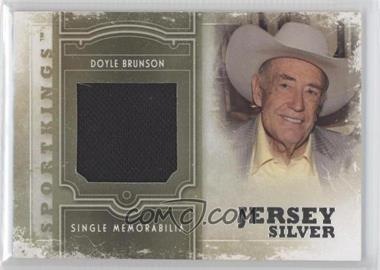 2012 Sportkings Series E - Single Memorabilia - Silver Jersey #SM-19 - Doyle Brunson