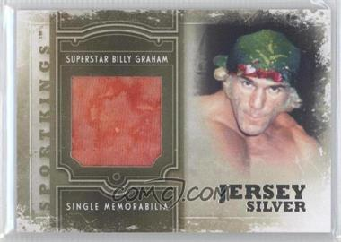 2012 Sportkings Series E - Single Memorabilia - Silver Jersey #SM-21 - Superstar Billy Graham