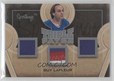 2012 Sportkings Series E - Triple Patch - Silver #TP-08 - Guy Lafleur