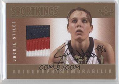 2012 Sportkings Series E Autograph - Memorabilia Gold #AM-JST2 - Jackie Stiles /10