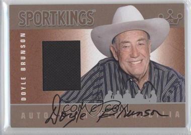 2012 Sportkings Series E Autograph - Memorabilia Silver #AM-DB1 - Doyle Brunson
