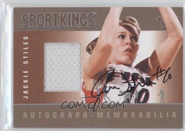 2012 Sportkings Series E Autograph - Memorabilia Silver #AM-JST1 - Jackie Stiles