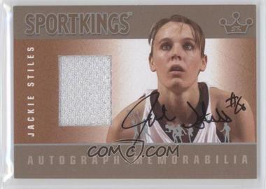 2012 Sportkings Series E Autograph - Memorabilia Silver #AM-JST2 - Jackie Stiles /50