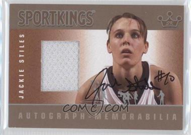 2012 Sportkings Series E Autograph - Memorabilia Silver #AM-JST2 - Jackie Stiles