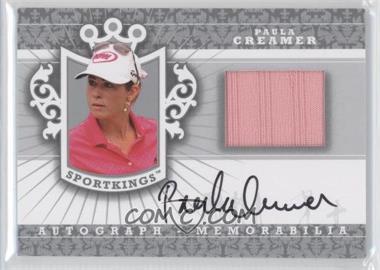 2012 Sportkings Series E Autograph - Memorabilia Silver #AM-PC2 - Paula Creamer