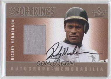2012 Sportkings Series E Autograph - Memorabilia Silver #AM-RH3 - Rickey Henderson