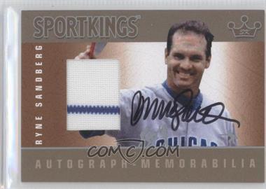 2012 Sportkings Series E Autograph - Memorabilia Silver #AM-RS1 - Ryne Sandberg