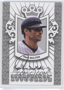 2012 Sportkings Series E Autograph Silver #A-PM2 - Paul Molitor /30