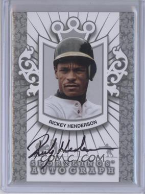 2012 Sportkings Series E Autograph Silver #A-RH2 - Rickey Henderson /30