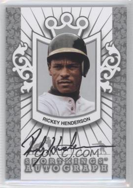 2012 Sportkings Series E Autograph Silver #A-RH2 - Rickey Henderson