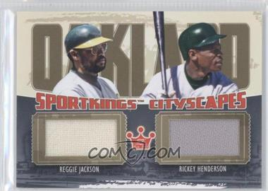 2012 Sportkings Series E Cityscapes Gold #CS-09 - Reggie Jackson, Rickey Henderson