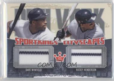 2012 Sportkings Series E Cityscapes Silver #CS-03 - Dave Winfield, Rickey Henderson