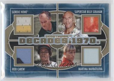2012 Sportkings Series E Decades Gold #D-02 - Gordie Howe, Superstar Billy Graham, Rod Carew, Martina Navratilova
