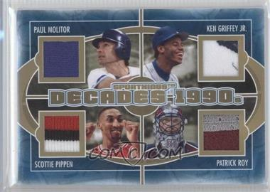 2012 Sportkings Series E Decades Gold #D-05 - Paul Molitor, Ken Griffey Jr., Scottie Pippen, Patrick Roy