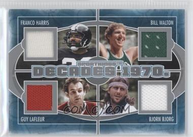 2012 Sportkings Series E Decades Silver #D-01 - Franco Harris, Bill Walton, Guy Lafleur, Bjorn Borg /40