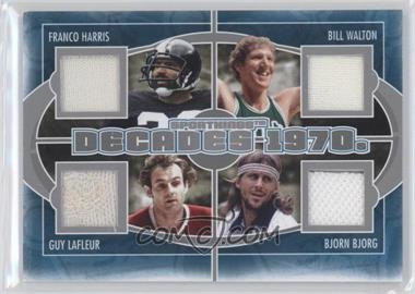 2012 Sportkings Series E Decades Silver #D-01 - Franco Harris, Bill Walton, Guy Lafleur, Bjorn Borg /40