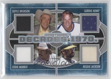 2012 Sportkings Series E Decades Silver #D-03 - Doyle Brunson, Gordie Howe, Reggie Jackson, Eddie Murray /40