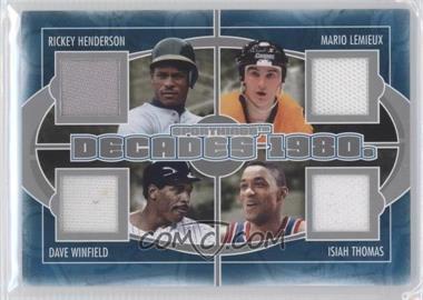 2012 Sportkings Series E Decades Silver #D-04 - Rickey Henderson, Mario Lemieux, Dave Winfield, Isiah Thomas /40